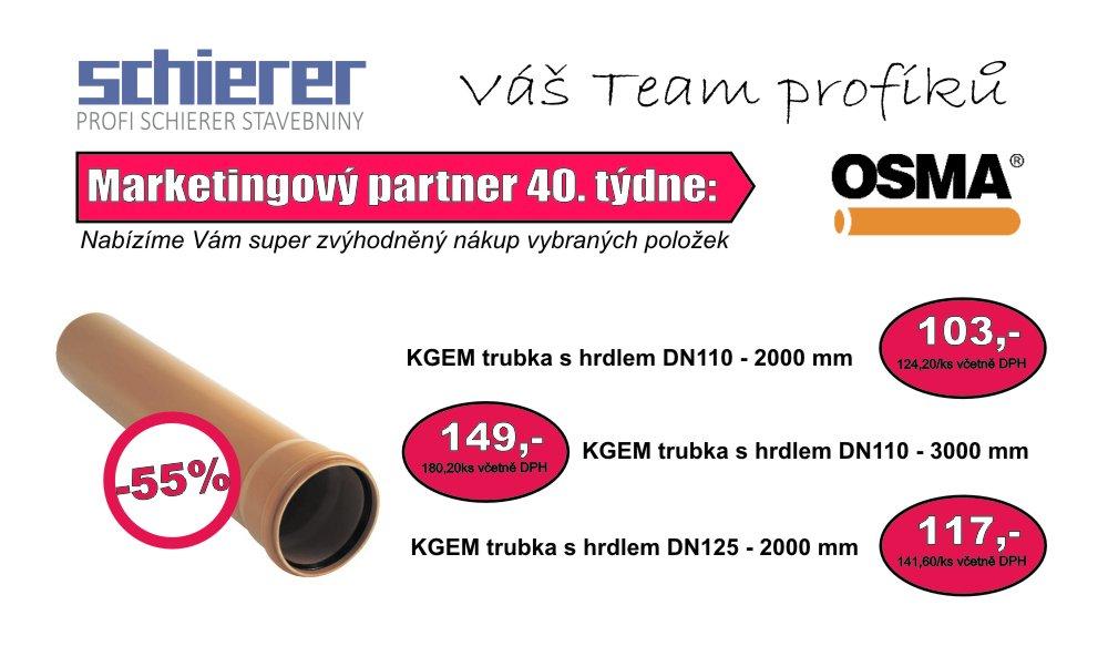 OSMA - partner 40. týdne