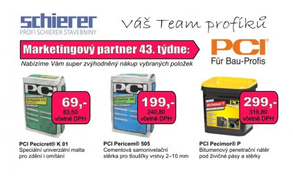 PCI - partner 43. týdne